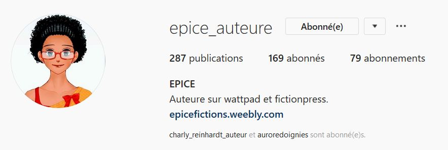 Instagram @epice_auteure
